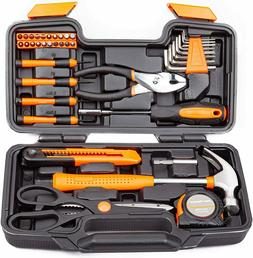 CARTMAN Orange 39-Piece Tool Set General Household Hand Tool