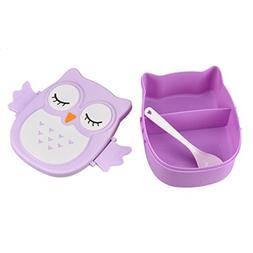 YJYdada Owl Lunch Box Food Container Storage Box Portable Be