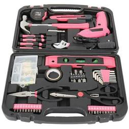 Pink 149 Pcs Tool Set General Household Hand Kit Plastic Too