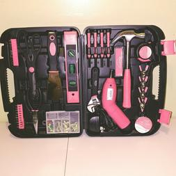 Pink Tool Kit 138 Piece Apollo Household Multipurpose Tools