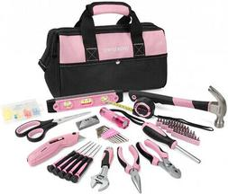 WORKPRO Pink Tool Kit, 75-Piece Lady's Home Repairing Tool S