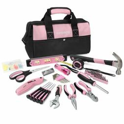 WORKPRO Pink Tool Kit,75PieceRepairing Tool Set with Wide Mo