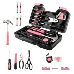 Portable 39 Piece Tool Set General Household Hand Tool Kit f