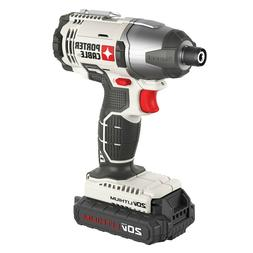 """Porter Cable 20V Max Lithium Ion 1/4"""" Impact Driver Kit  - P"""
