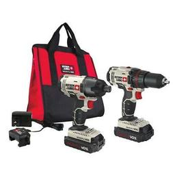 PORTER CABLE 20V MAX* Lithium Ion 2-Tool Combo Kit - PCCK604