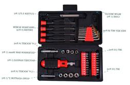 Power Hand Tool Kit   Black and Red 1 Cutter, 4 precision sc