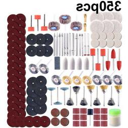 Pro 350 Pc/Set Rotary Tool Accessory Kit For Grinding Sandin