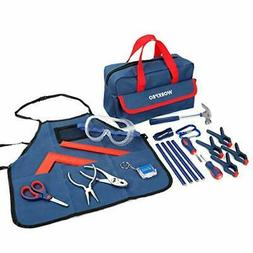 WORKPRO 23-Piece Children's Real Tool Kit with Bag