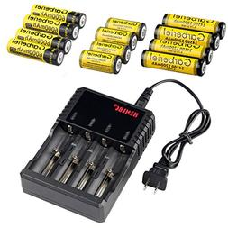 HeCloud Pack of 13 Rechargeable Batteries Set Kit - Each 4 p
