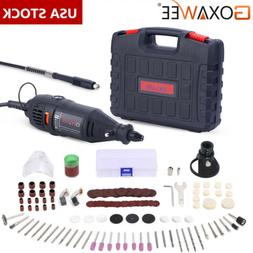 Goxawee Rotary Tool Kit with 140pcs Accessories for Dremel M