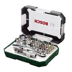 Bosch Screwdriver Bit and Ratchet Set Hand Tool Kit - 26 Pie