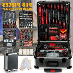 918 pcs Tool Set Standard Metric Mechanics Kit Case Box Orga