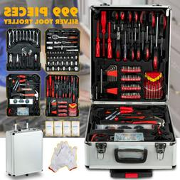 999 pcs Tool Set Standard Metric Mechanics Kit Case Box Orga