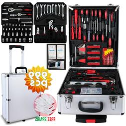999 pcs Tool Set Trolley Mechanics Metric Standard Kit Case