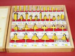 """35 pc 1/4"""" Shank Router Bit set  Carbide tipped Woodworking"""