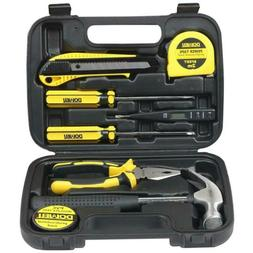 DOWELL Small Homeowner Tool Set, 8 Pieces General Household