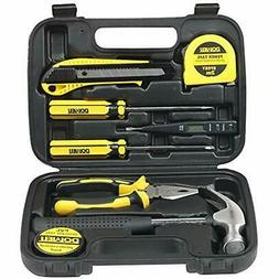 Small Homeowner Tool Set 9 Pieces General Household Hand Kit