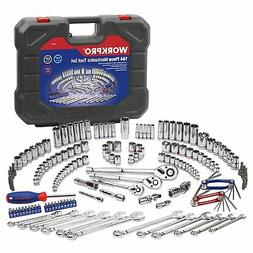 WORKPRO Socket Wrench Set, 164-piece Mechanics Tool Kit 1/4