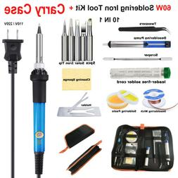 Soldering Iron 60W Kit Electronic Welding Tool Adjustable Te