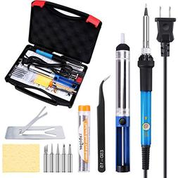 Tabiger Soldering Iron Kit 60W 110V-Adjustable Temperature W