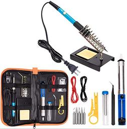 hothuimin Soldering Iron Kit Electronics, 60W 110V Adjustabl