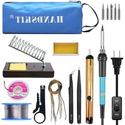 Soldering Iron, Soldering Iron Kit Electronics, 60W Adjustab