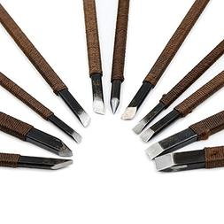 CSLU 11pcs Stone Carving Tool Chisels / Knife Set Kit Mn All