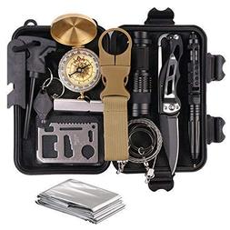 Survival Gear Kits 13 in 1- Outdoor Emer... on