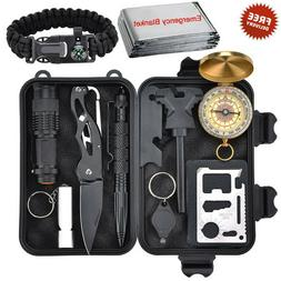 Outdoor Survival Tools, 10 in 1 Multi-Purpose Emergency Surv