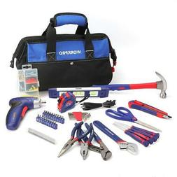 WORKPRO Tool Kit Home Repairing Set with 3.6V Rechargeable S