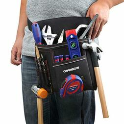 tool pouch for woodworking with belt included