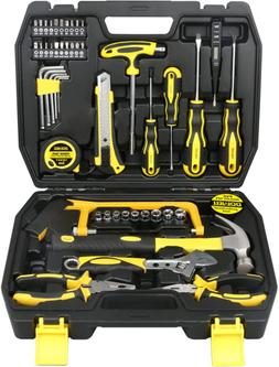 DOWELL Tool Set, Home Repair Hand Tool Kit with Plastic Tool