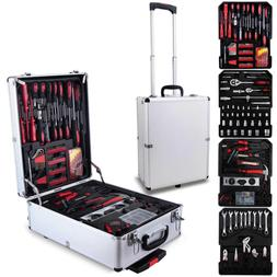 Tool Set Standard Metric Mechanics Kit with Trolley Case Box