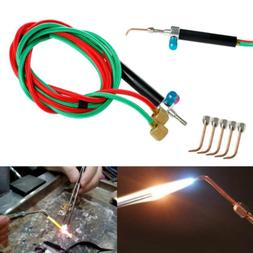 Torch Jewelers Soldering Welding with 5 Tips, Hoses Mini Gas