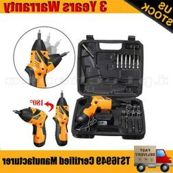 US Plug Power Tool Rechargeable Cordless 45 in 1 Electric Sc