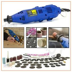 VARIABLE SPEED ROTARY TOOL Kit Cutter Drill Grinder 100 Piec