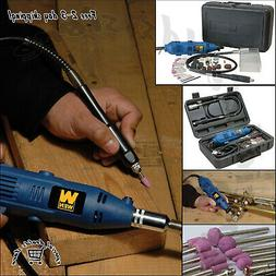 Variable Speed Rotary Tool Kit Grinder with Flex Shaft & Cas