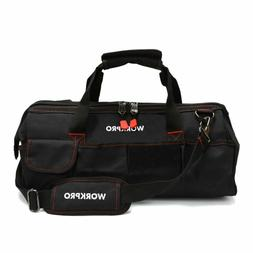"Workpro W081023A Close Top Storage Tool Bag, 18"", Black/Red"