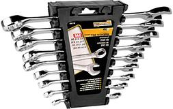 Performance Tool W1161 SAE Polished Combo Wrench Set with Ra