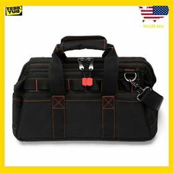 WORKPRO 16-inch Wide Mouth Tool Bag with Water Proof Rubber